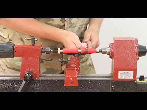 812 VS Mini Lathe (Woodturning) - 동영상