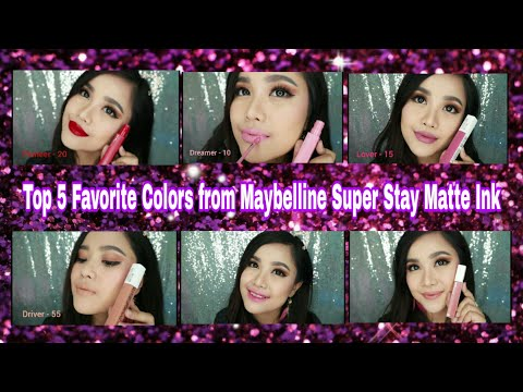 5-favorite-colors-from-maybelline-super-stay-matte-ink-review-+-how-to-make-ombre-lips-easily