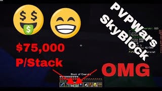 NEW FASTEST WAY TO MAKE MONEY! PVPWars SkyBlock