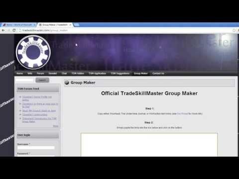 TSM 2 TradeSkillMaster Group Maker