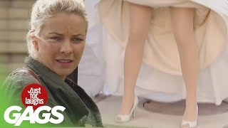Kid Disappears Under Wedding Dress - Just For Laughs Gags