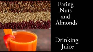 Binaural Asmr Eating Nuts And Drinking, Slurping Juice L Eating Sounds And Mouth Sounds