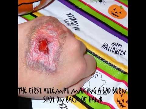 Scary halloween hand makeup - YouTube