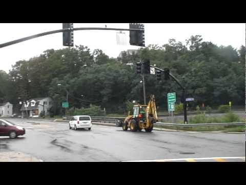 Framingham, MA - Hurricane Irene Knocks out Rt  9 Traffic Lights (August  28, 2011)