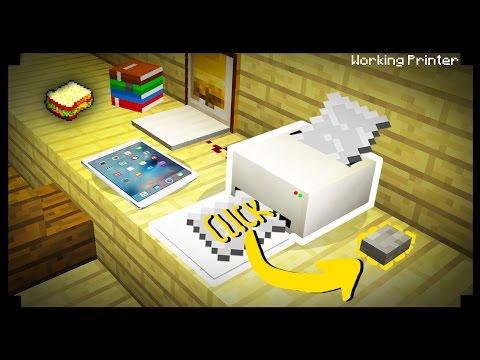 \( ͡° ͜ʖ ͡°)ノ Minecraft: How To Make A Working Printer