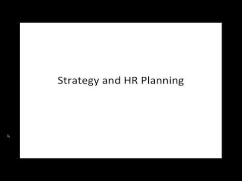 Seminar in HRM:  Strategic HR Planning