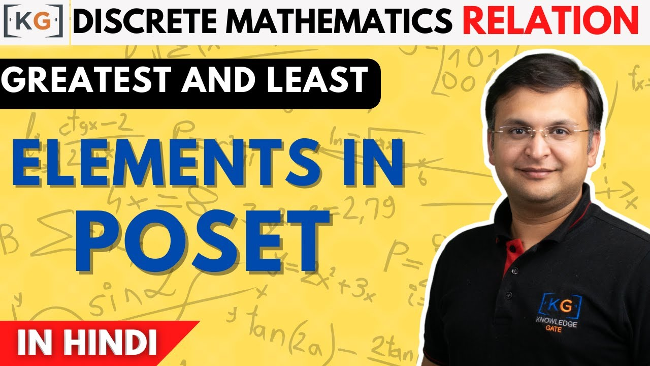 Part 20 Greatest And Least Elements In Poset Partial Order Relation Lattice Maximum And Minimum Youtube
