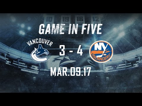Canucks vs. Islanders Game in Five (Mar. 09, 2017)