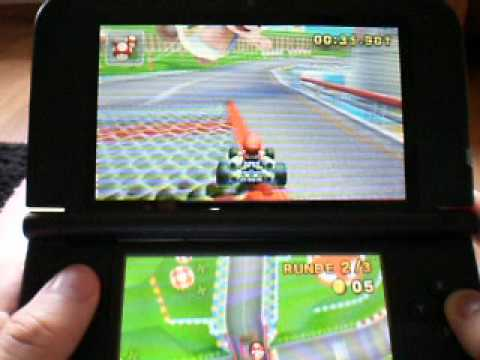 nintendo 3ds xl gameplay mario kart 7 youtube. Black Bedroom Furniture Sets. Home Design Ideas