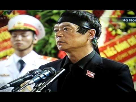 Lễ Truy điệu Đại Tướng Võ Nguyên Giáp, Ông Võ Điện Biên cảm ơn tại HÀ NỘI.