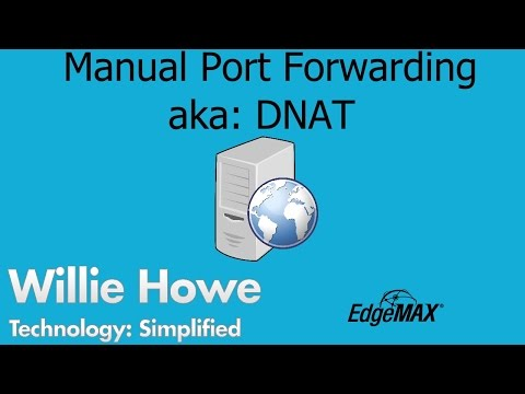 EdgeOS - EdgeRouter - How to Manually Port Forward - YouTube