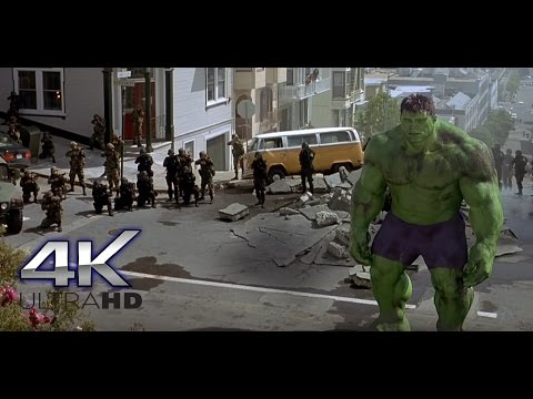 San Francisco Scene.   Hulk (2003)   4K ULTRA HD.