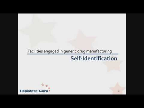 U.S. FDA Self-Identification Requirements for Generic Drugs