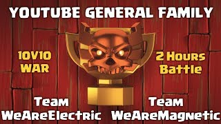 [LIVE] Clash of Clans | YouTube General Family | INSANE 10v10 War | Clash With Sparsh
