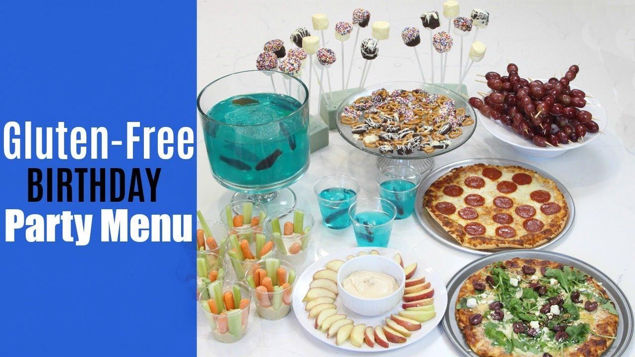 Easy Kids Birthday Party Menu Gluten Free Nut Free Youtube