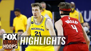 Michigan holds off late push from Rutgers with Franz Wagner's 20 pts | FOX COLLEGE HOOPS HIGHLIGHTS