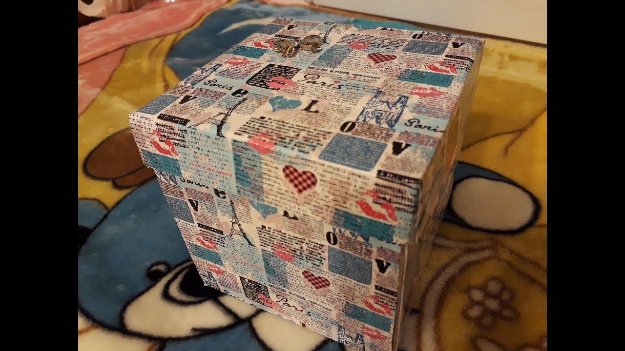 Красивая коробочка с сюрпризом, своими руками - YouTube