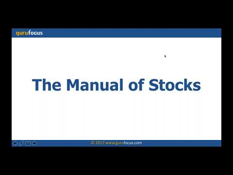 Using GuruFocus Manual of Stocks