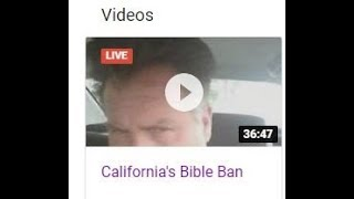 California's Bible Ban