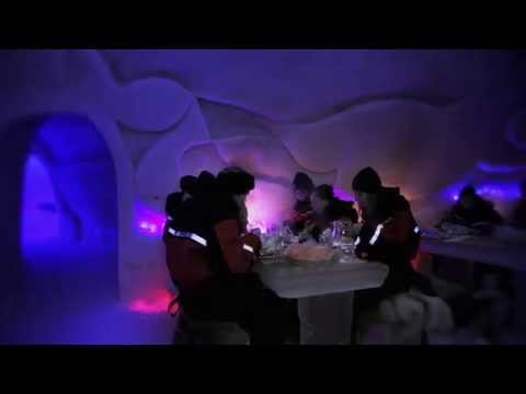 Arctic SnowHotel & Glass Igloos in Rovaniemi in Lapland Finland - northern lights
