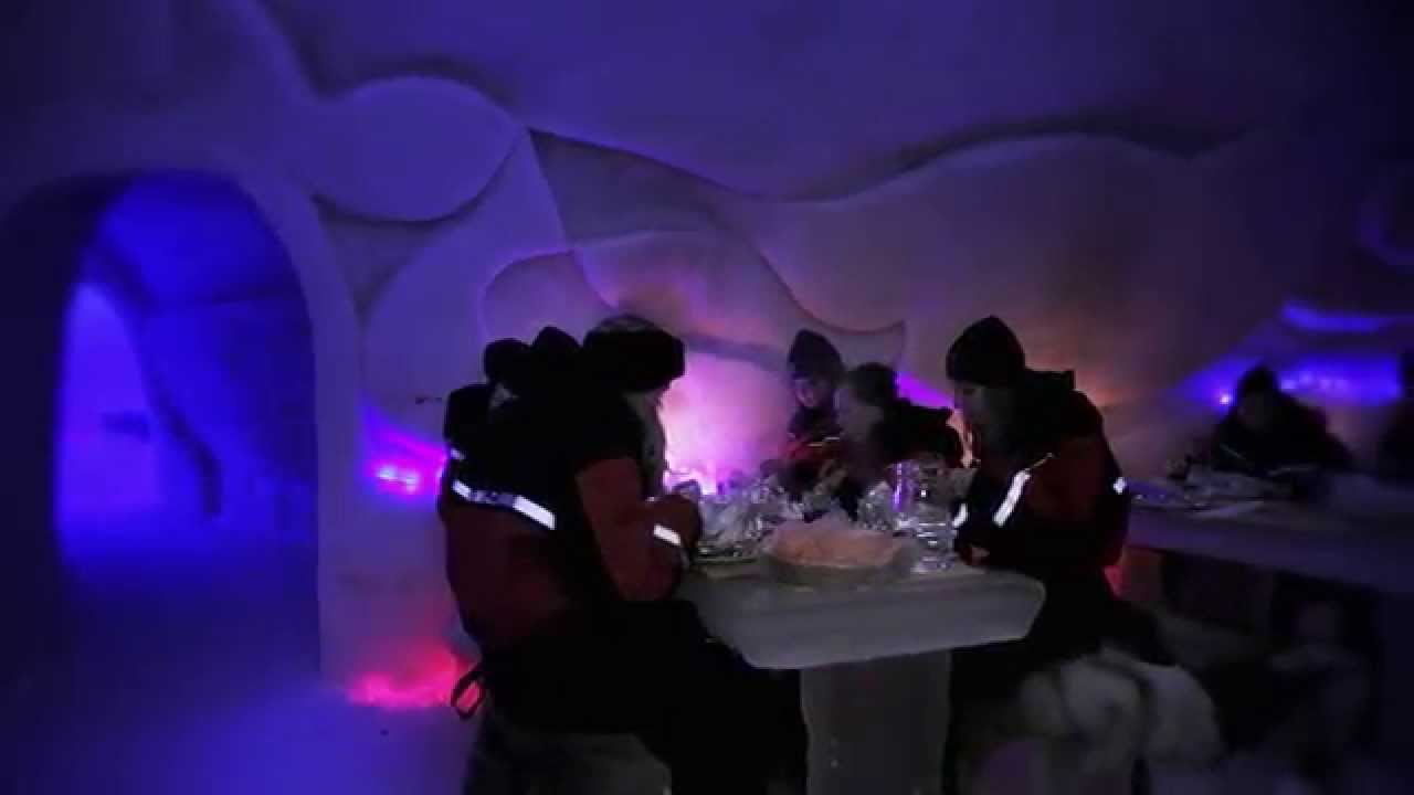 Arctic SnowHotel U0026 Glass Igloos In Rovaniemi In Lapland Finland   Northern  Lights   YouTube