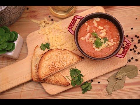 شوربة الطماطم المشوية مع كرات اللحم الشهية والمبتكرة   مطبخ سيدتي