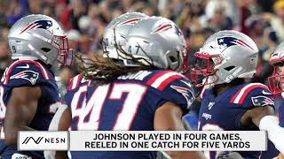 The new england patriots have placed fullback jakob johnson on injured reserve just five weeks after james develin also landed ir. for more: https://nesn....