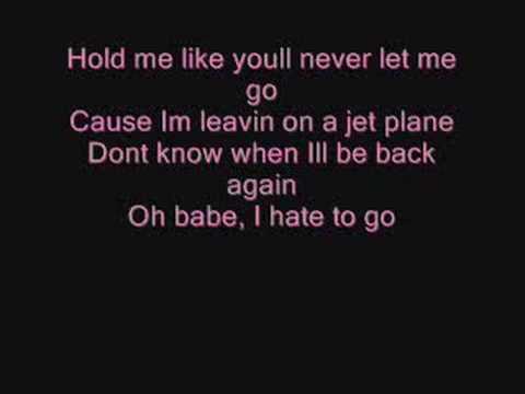lyrics for leaving on a jet plane