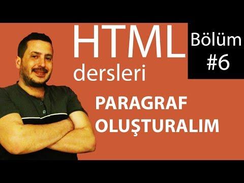 HTML VIDEO DERSLERİ 6 : PARAGRAF OLUŞTURMA P VE PRE ETİKETİ