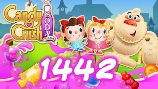 Candy Crush Soda Saga Level 1442 - 9 Moves Left - No Boosters