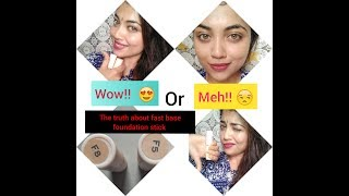 Makeup Revolution Fast Base Stick Foundation | Indian Skin tone |  Review and Swatches F5 & F8
