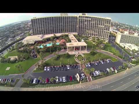 Aerial San Luis Hotel - Galveston, TX