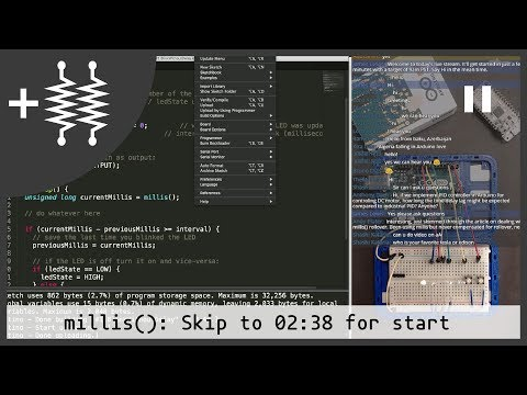 Arduino millis examples with LEDs   AddOhms Live #5