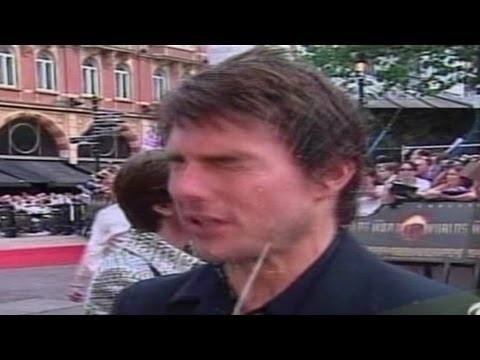 tom cruise squirted Tom Cruise: Back in 2005  while doing press interviews at the London premiere of