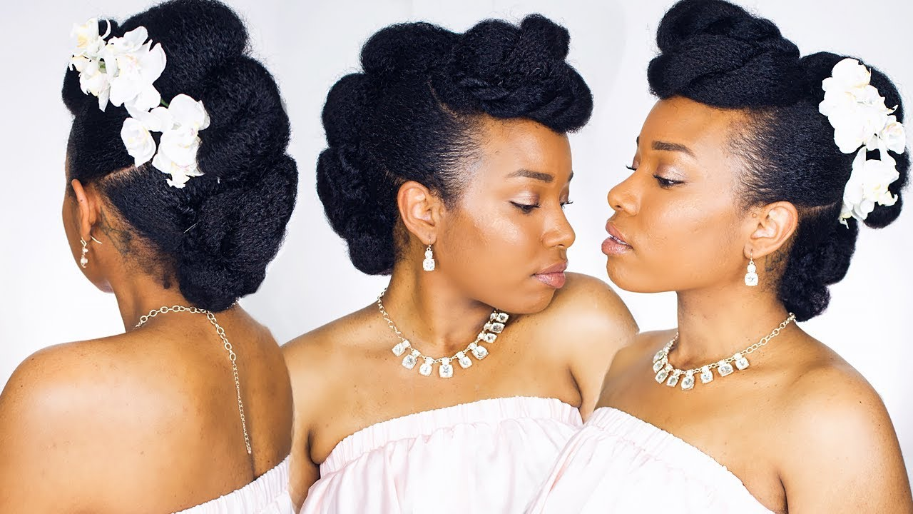 CUTE + EASY UPDO for NATURAL HAIR! - YouTube