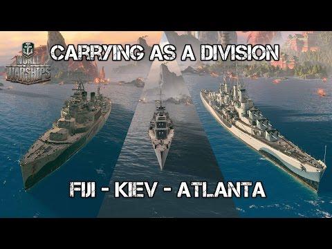 World of Warships - Carrying as a Division - Atlanta