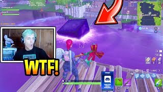 NINJA REACTS TO CUBE MELTING IN LOOT LAKE! *INSANE* Fortnite EPIC & FUNNY Moments