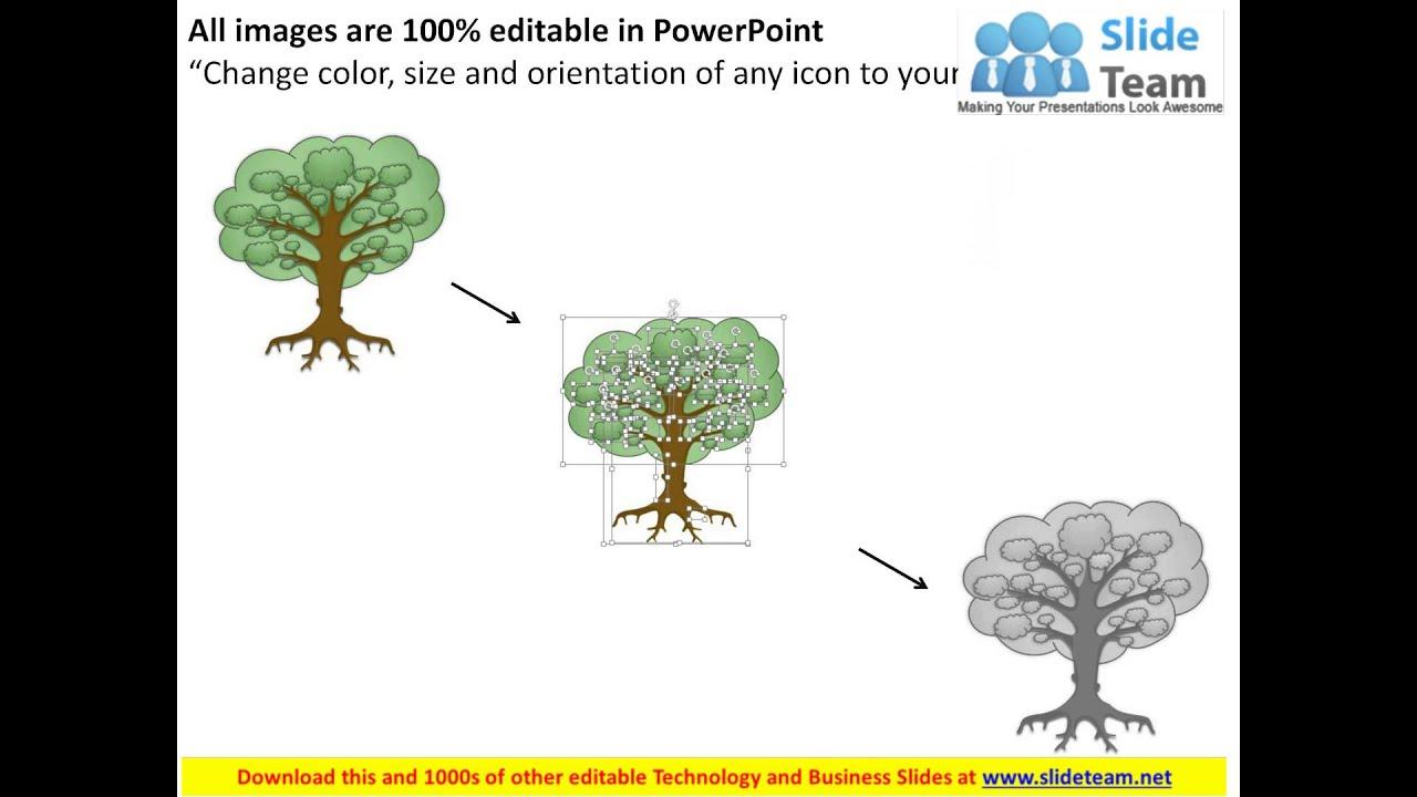 Internet Marketing Strategy Tree Diagram Powerpoint - Strategy tree template