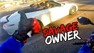 SAVAGE PORSCHE 911 CARRERA OWNERS!! FT. SAVAGE MUSTANG GT | BMW S1000RR