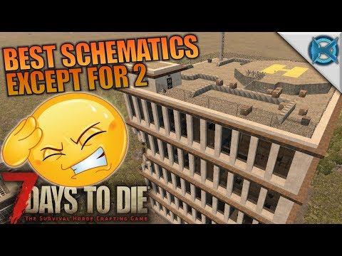 BEST SCHEMATICS EXCEPT FOR 2 | 7 Days to Die | Let's Play Gameplay Alpha 16 | S16.4E08