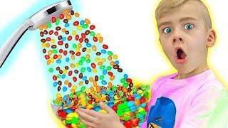 Папа хочет конфеты или Волшебный душ из m&m's
