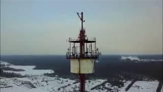 Полёт над телебашней города Володарска /4К/ DJI Mavic Pro