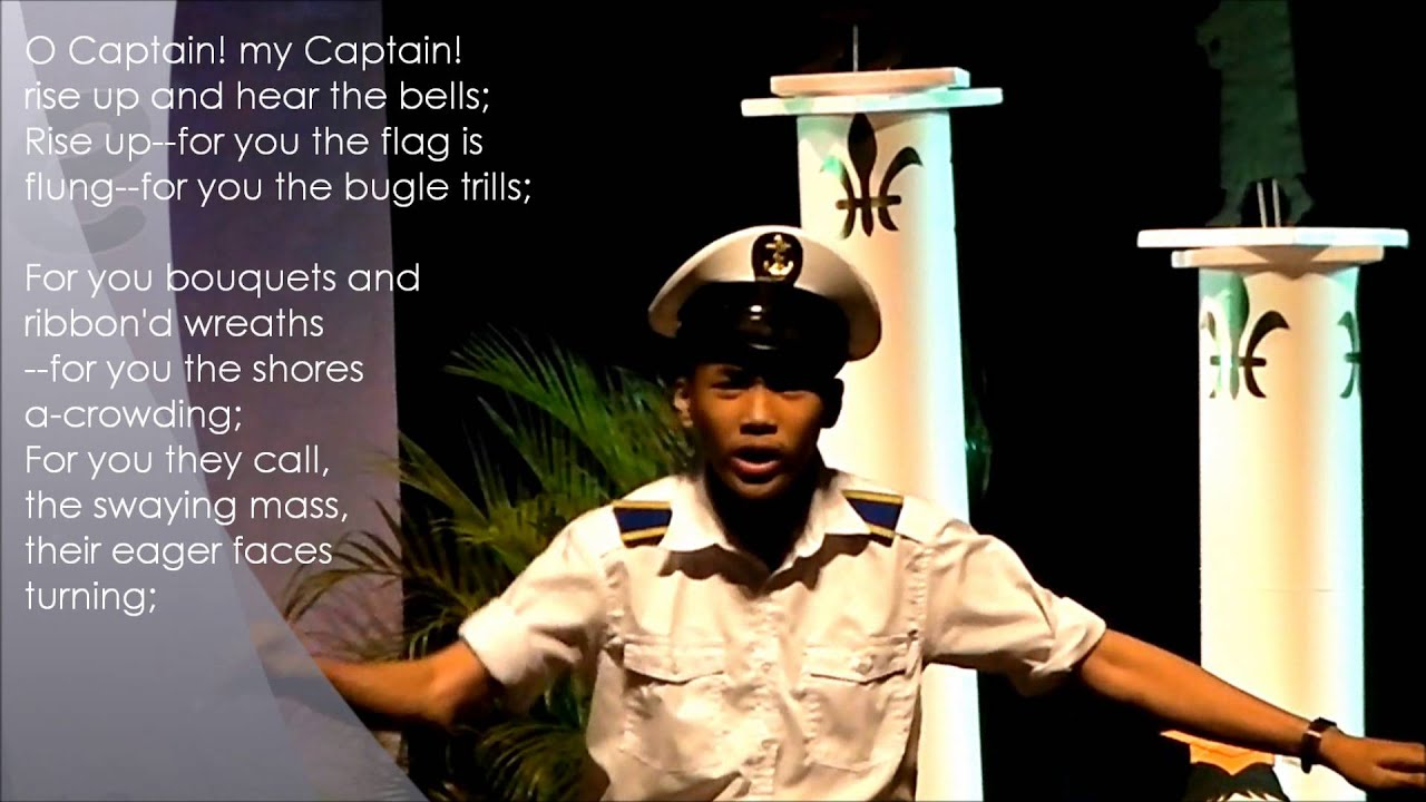O Captain My Captain Van Amiel S Declamation Piece
