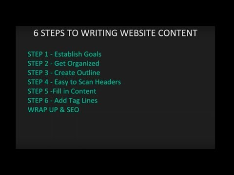 6 Steps to Writing Great Website Content