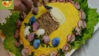 Салат с крабовыми палочками на пасху