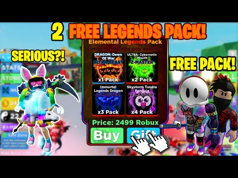 ⚔️I WAS *GIFTED* 2 ELEMENTAL LEGENDS PACK THAT COST 5000 ROBUX! IN NINJA LEGENDS! INSANELY OP!⚔️