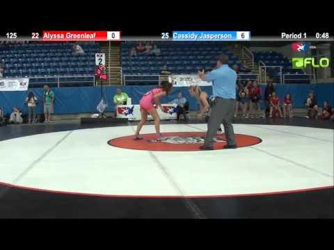 Championship 125 - Alyssa Greenleaf (Michigan) vs. Cassidy Jasperson (Texas 1)