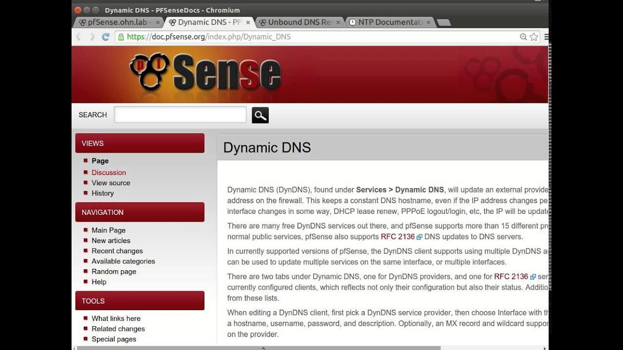 9 Pfsense Dynamic DNS with no ip EN