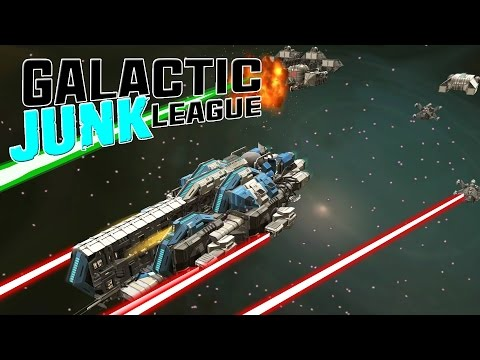 ROBOCRAFT IN SPACE! Massive PVP Spaceship Battles With Destroyer - Galactic Junk League Gameplay