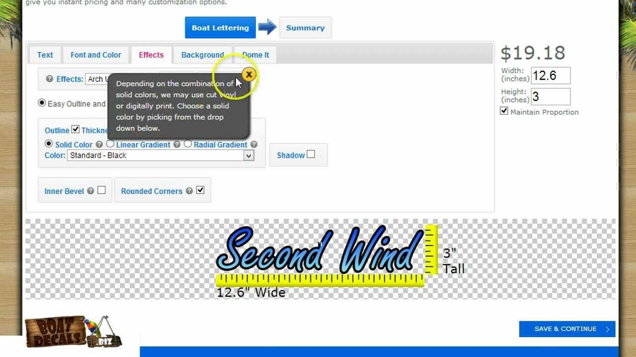 boatdecalsbiz online boat lettering design tuturial